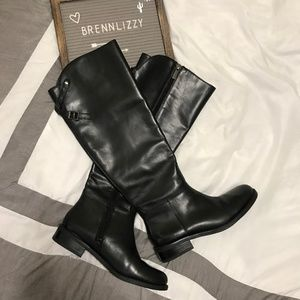 Vince Camuto Womens Size 6.5 Black Riding Boots